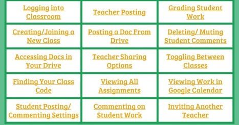 Google Classroom Cheat Sheet | Technology In Edu | Scoop.it