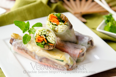 Grilled Eggplant Spring Rolls | Food for Foodies | Scoop.it