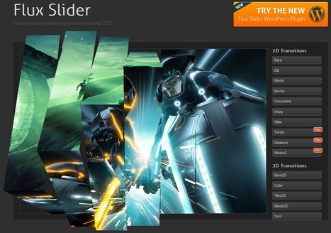 Flux Slider » Hardware accelerated image transitions using CSS3 | Slideshow & Carousel Jquery | Scoop.it