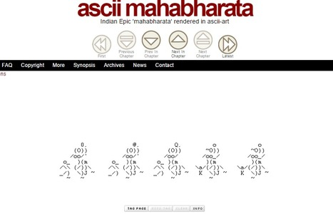 ascii mahabharata - Indian Epic 'mahabharata' rendered in ascii-art | ASCII Art | Scoop.it