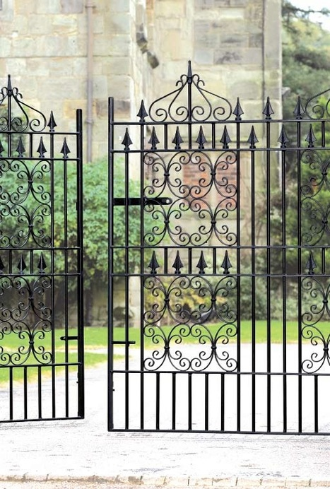 Highly Decorative Wrought Iron Driveway Gates | Wrought Iron Gates | Scoop.it