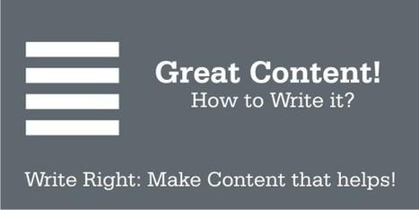How to Start Writing Great Content? | Bloggingtips | Scoop.it