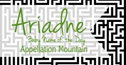 Ariadne: Baby Name of the Day - Appellation Mountain | Baby Name News! | Scoop.it