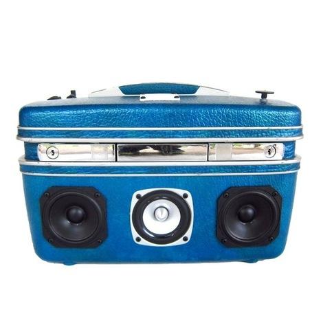 Rechargeable Vintage Suitcase TheBoomCase Boom Box Vintage Funky Eco - Design - Swag | Odd Design | Scoop.it