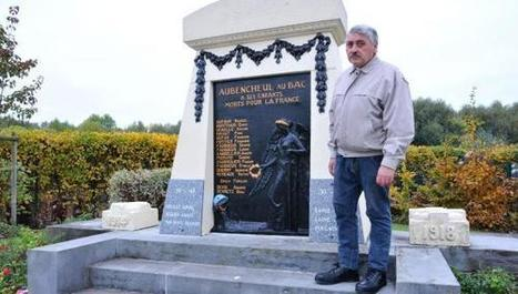 Le monument aux morts d'Aubencheul s'offre un lifting avant le 11 ... - La Voix du Nord | monument aux morts 14-18 | Scoop.it