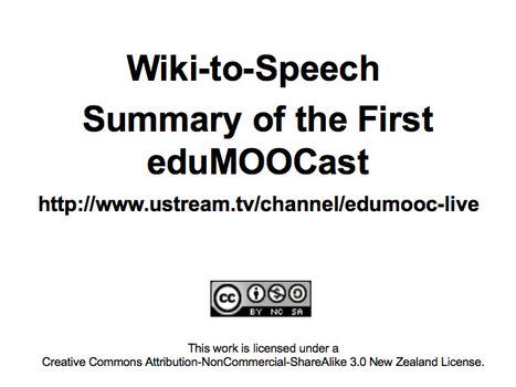 Wiki-to-Speech | EduMOOC | Scoop.it