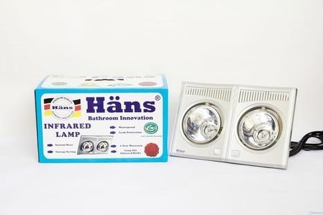 Đèn sưởi nhà tắm Hans 2 bóng công nghệ Đức | thammyvien | Scoop.it