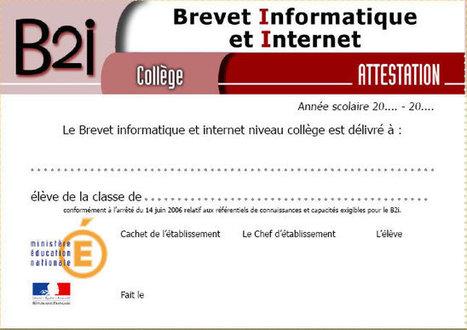 Nouveaux documents d'appui B2i École - Collège | Guillaume Grisel | Scoop.it
