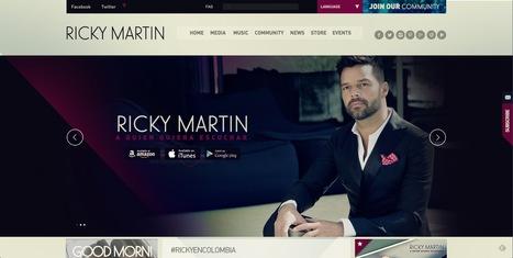 Ricky Martin | Beaux sites WordPress | Scoop.it