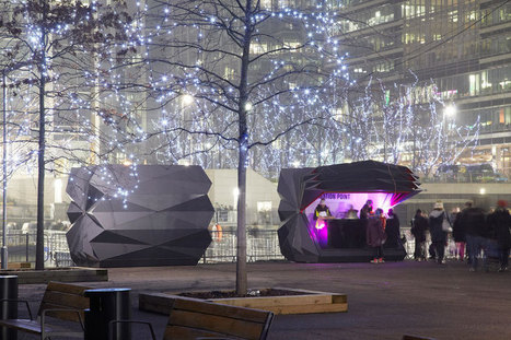 make architects folds prefabricated origami kiosks in london   Cool Gadgets   Scoop.it