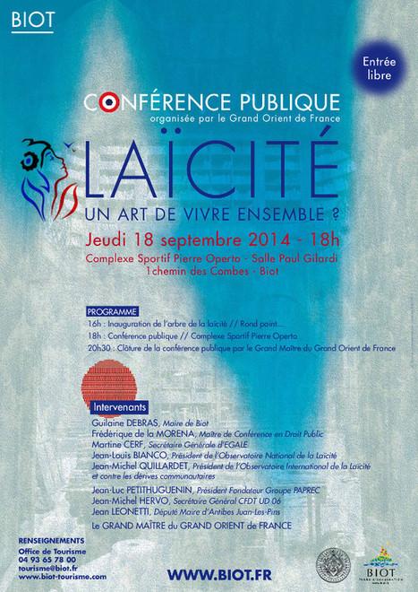 Conférence : Laïcité : un art de vivre ensemble? - Association Des ... | Laïcité en tarn-et-garonne et ailleurs | Scoop.it