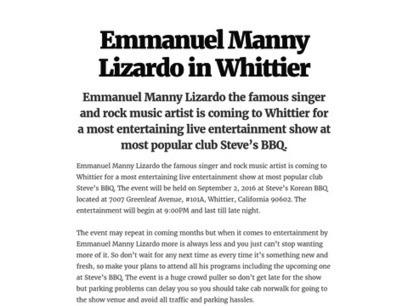Emmanuel Manny Lizardo in Whittier | Fiesta Taxi | Scoop.it
