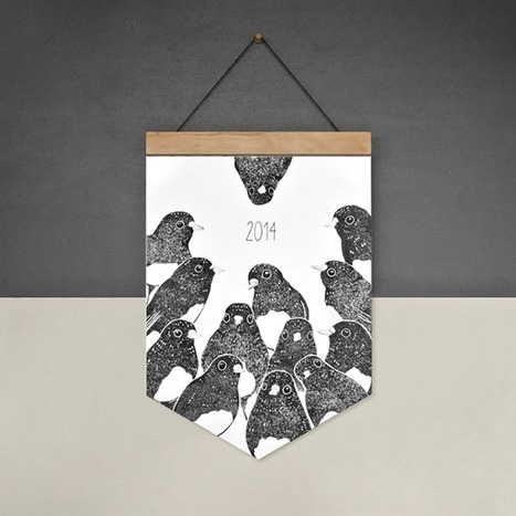 Cushion Spot: Eco-friendly 2014 Calendars by Paperbird Society | homedecor | Scoop.it