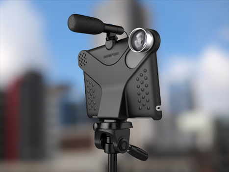Movie Mount for iPad2: camera mount for iPad. Attach tripod, conversion lenses and hotshoe accessories   Machinimania   Scoop.it