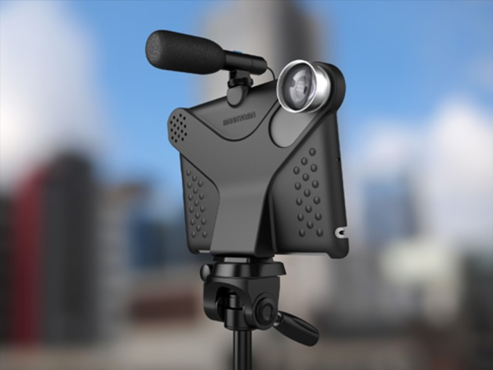 Movie Mount for iPad2: camera mount for iPad. Attach tripod, conversion lenses and hotshoe accessories | Machinimania | Scoop.it