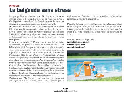 La baignade sans stress | Nextpool : solutions pour les pros de la piscine | Scoop.it