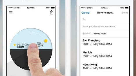 OneTime Organizes Multiple Time Zones in One Easy to Read Clock | iPhones and iThings | Scoop.it