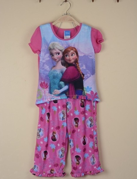 New 2014 Frozen Summer Girls Clothing Sets For 4 8yrs Kids Pajamas Cartoon Children's Homewear Dress-in Clothing Sets from Apparel & Accessories on Aliexpress.com | kid dress | Scoop.it