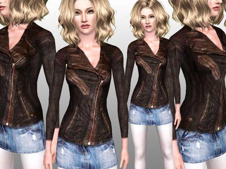 ShakeProductions' Tatijana Leather Jacket with skirt | cchico1998 | Scoop.it