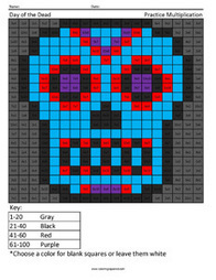 Day of the Dead- Holiday Multiplication | Coloring Squared | Scoop.it