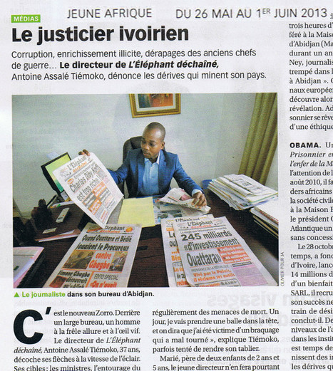 Le justicier ivoirien | DocPresseESJ | Scoop.it