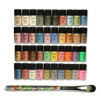 NYX Cosmetics Loose Pearl Eye Shadow Glitter Eye Shadow 40pc Set with Free Eye Shadow Brush | Online Makeup Store | Scoop.it