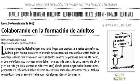 Colaborando en la formación de adultos | Pedalogica: educación y TIC | Scoop.it