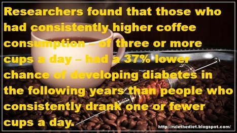 Three cups of coffee a day could help keep diabetes away, scientists say | healthy diet for a healthy lifestyle | Scoop.it