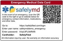 Emergency Medical  Data Cards - A Public Service from SafelyFiled | Secure Storage of Important Digital Data | Scoop.it