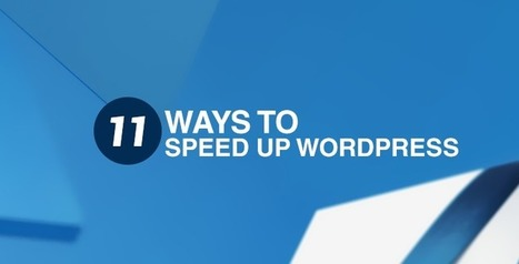 11 Ways to Speed Up WordPress | SEO Tips and Guides | Scoop.it