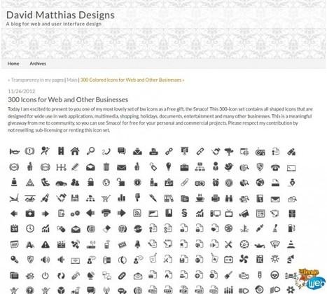 Un pack de 300 icones pour le web ou autres usages | Interesting Web | Scoop.it