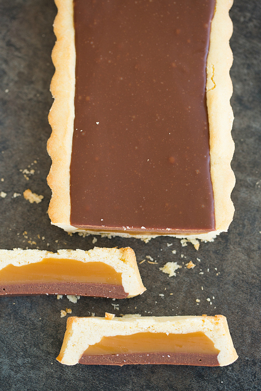 Twix Tart Recipe | Brown Eyed Baker