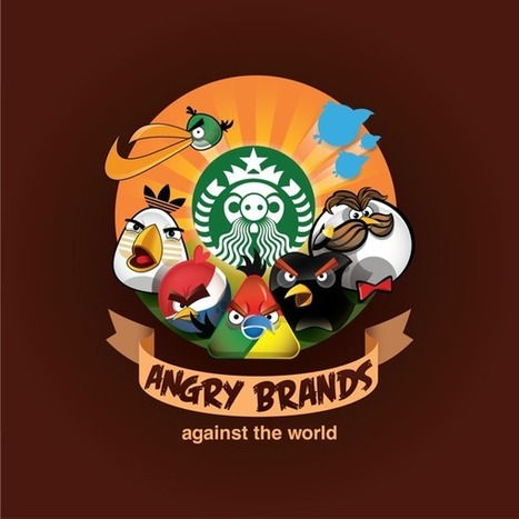 Angry Brands : logos célèbres à la sauce Angry Birds   Identité visuelle   Scoop.it