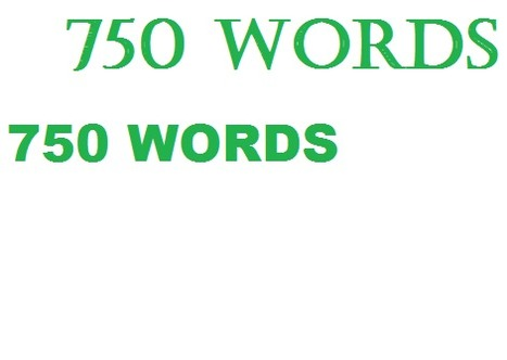 About a little thing called 750 Words | Serious Play | Scoop.it