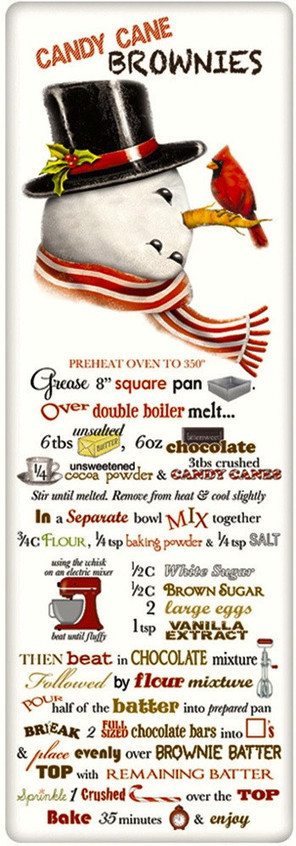 Recipe Flour Sack Dish Tea Towels - Candy Cane Brownies | FOOD? HEALTH? DISEASE? NATURAL CURES??? | Scoop.it