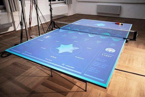 Une table de ping-pong interactive qui vous apprend à mieux jouer | Nouvelles technologies | Scoop.it