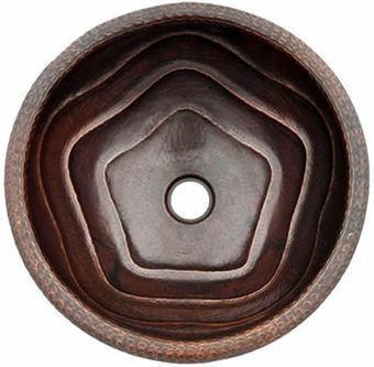 Round Copper Bathroom Sink Deep Star Design, 15 or 17 in OD, #CPVSR_LR176ST   Kitchen Online: Double Bowl Copper Kitchen Sinks  Copper Kitchen Sinks  Copper Kitchen Sink Texas   Scoop.it