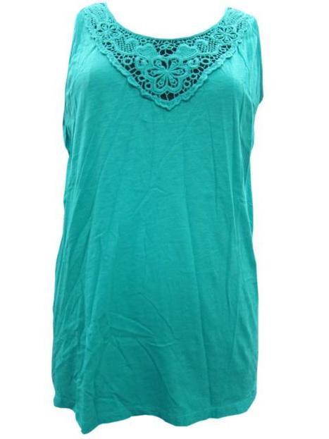 Turquoise Blue Blouse Crochet Neckline Hozri Medium | Bohemian Fashion | Scoop.it