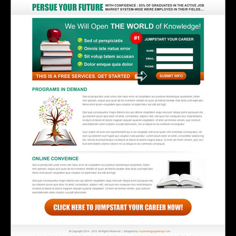 jump start your career very appealing and converting lead capture page design | converting and effective landing page designs | Scoop.it