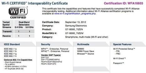 Samsung Galaxy S III - La Wi-Fi Alliance estampa su sello para que funcione con Tizen | Tecnología 2015 | Scoop.it