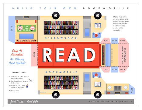 Build Your Own 3-D Paper Bookmobile - Designed by Bob Staake | Library world, new trends, technologies | Scoop.it
