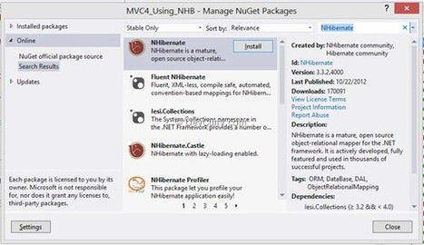 Using NHibernate in an ASP.NET MVC 4 Application | Asp.net MVC-NHibernate-EF-Angular JS | Scoop.it