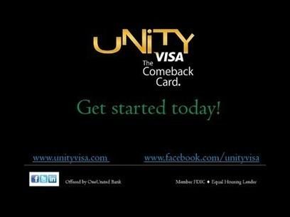 UNITY Visa Secured Credit Card to Rebuild Credit | OneUnited Bank Blogs & Info | Scoop.it