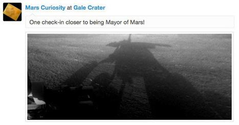 Le robot Curiosity se check-in sur Mars   Actualités robots et humanoïdes   Scoop.it