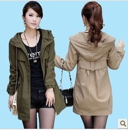 Cheap New Slim Hitz long women coat jacket Korean Spring and Autumn Hooded leisure jacket in women outcoat from women clothing on sightface.com | Cheap women Clothing Online at Sightface | Scoop.it
