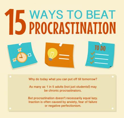 15 Ways to Beat Procrastination [Infographic] | Communication design | Scoop.it