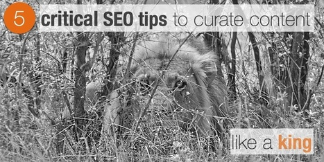 5 critical SEO tips to curate content like a king | Edumorfosis.it | Scoop.it