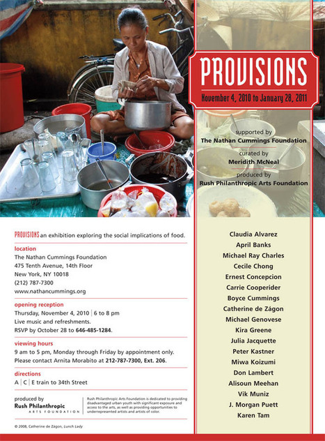provisions: an exhibition exploring the social implications of food | ArtTechFood | Scoop.it