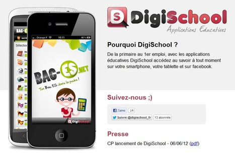 DigiSchool : Applications éducatives | Creativity as changing tool | Scoop.it