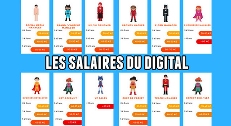 Les salaires du digital : Chef de Projet Web, SEO, Social Media Manager | Social Media Curation par Mon Habitat Web | Scoop.it